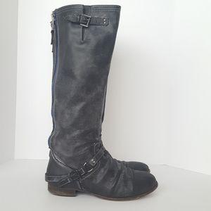 Steve Madden Roady boots black/blue size 10